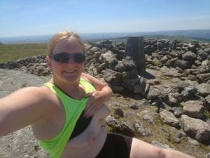 Trig point on Rippon tor