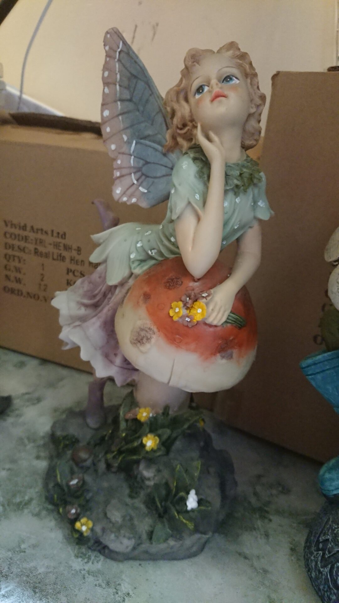 Moulded and painted stone fairy for the post my beautiful stone fairy.